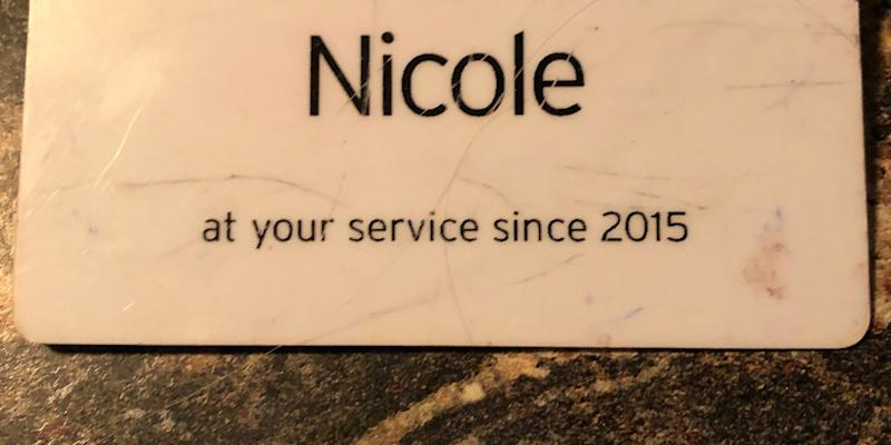 The name tag Nicole Johnson wore while working at a grocery store. (Photo: Courtesy of Nicole Johnson)