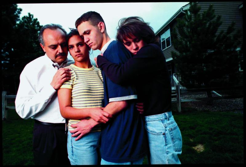 "Zachary Cartaya took this photograph with his family soon after surviving the Columbine attack in 1999. He says he is ""so proud"" of the Stoneman Douglas students. (Ray Ng via Getty Images)"