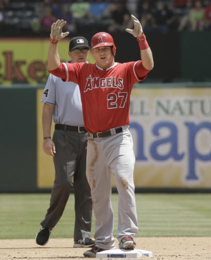 Mike Trout again has MVP-worthy credentials. (AP)