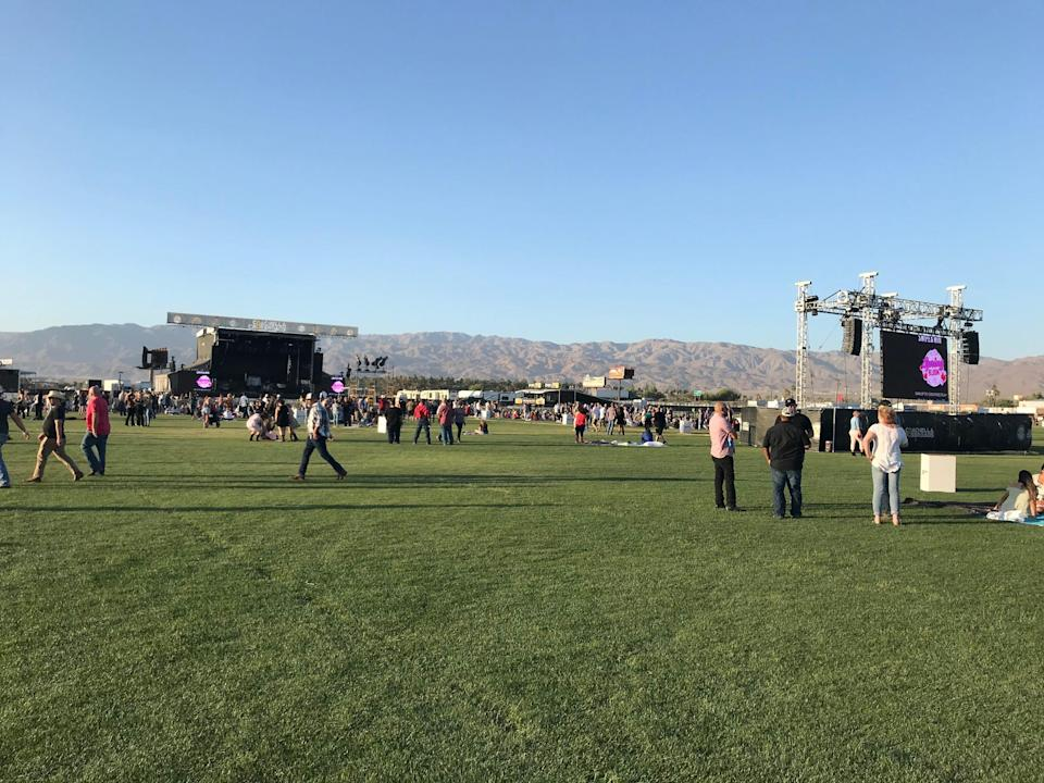 The new outdoor venue Coachella Crossroads hostedits inaugural concert with country star Toby Keith and opening act Jimmie Allen, May 15, 2021.
