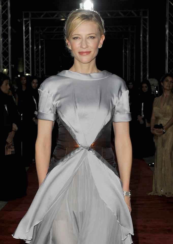 "DUBAI, UNITED ARAB EMIRATES - DECEMBER 09:  Actress Cate Blanchett attends the ""Life of PI"" Opening Gala during day one of the 9th Annual Dubai International Film Festival held at the Madinat Jumeriah Complex on December 9, 2012 in Dubai, United Arab Emirates.  (Photo by Gareth Cattermole/Getty Images for DIFF)"