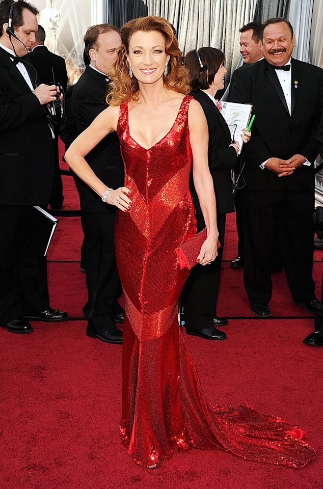 Jane Seymour arrives at the 84th Annual Academy Awards in Hollywood, CA.