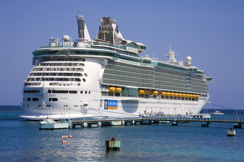 A stock image of Royal Caribbean's Freedom of the Seas cruise ship.