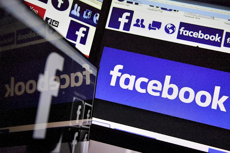Facebook shares tumbled 5.0 percent in early trading following reports of a large data breach as US stocks fell ahead of a Federal Reserve policy decision later this week (AFP Photo/LOIC VENANCE)