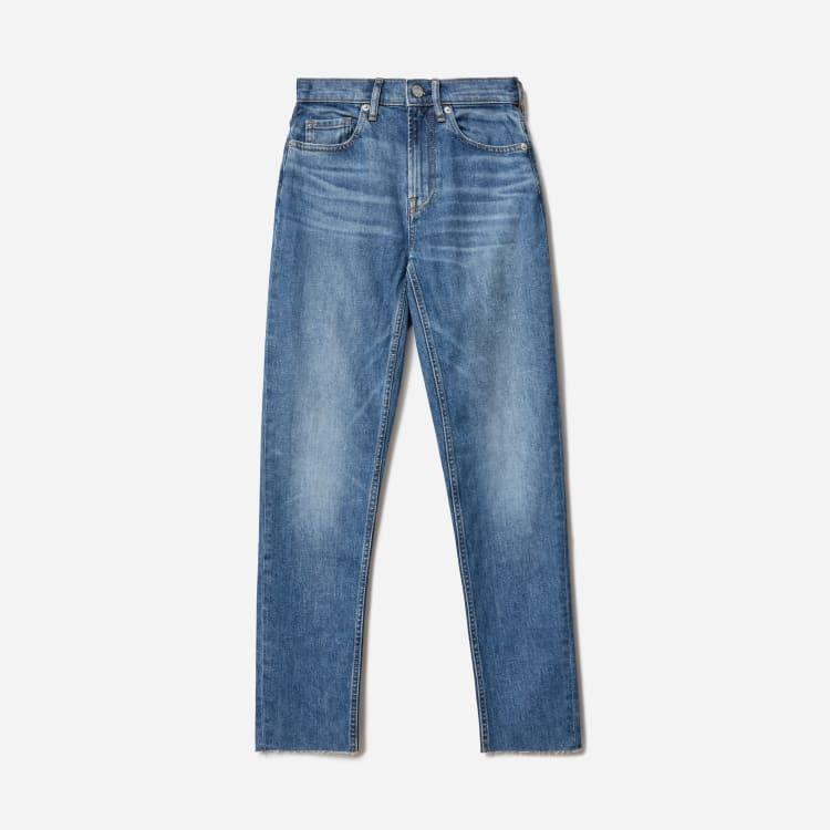 """<p><strong>Everlane</strong></p><p>everlane.com</p><p><a href=""""https://go.redirectingat.com?id=74968X1596630&url=https%3A%2F%2Fwww.everlane.com%2Fproducts%2Fwomens-high-rise-straight-jean-regular-classic-blue&sref=https%3A%2F%2Fwww.townandcountrymag.com%2Fstyle%2Ffashion-trends%2Fg34822978%2Feverlane-cyber-monday%2F"""" rel=""""nofollow noopener"""" target=""""_blank"""" data-ylk=""""slk:Shop Now"""" class=""""link rapid-noclick-resp"""">Shop Now</a></p><p><strong><del>$78</del> $59 (25% off)</strong></p>"""
