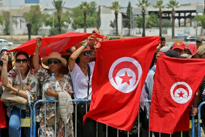 Tunisians pack a the Djellaz cemetery in Tunis on July 27, 2019 for the final farewell to president Beji Caid Essebsi, the country first democratically elected head of state who died on Thursday aged 92 (AFP Photo/Anis MILI)