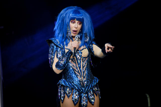 Cher performs live on stage at a sold out show in Toronto. ( Angel Marchini/SOPA Images/LightRocket via Getty Images)
