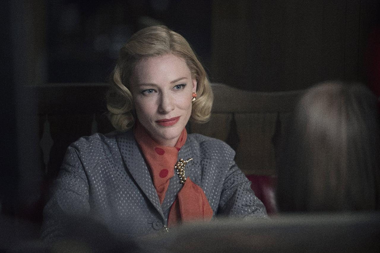 "<p>This tale, which follows the forbidden romance of two women (<a class=""sugar-inline-link ga-track"" title=""Latest photos and news for Cate Blanchett"" href=""https://www.popsugar.com/Cate-Blanchett"" target=""_blank"" data-ga-category=""Related"" data-ga-label=""https://www.popsugar.com/Cate-Blanchett"" data-ga-action=""&lt;-related-&gt; Links"">Cate Blanchett</a> and Rooney Mara) in the 1950s, earned a whopping six Oscar nominations.</p> <p><a href=""https://www.netflix.com/title/80058700"" target=""_blank"" class=""ga-track"" data-ga-category=""Related"" data-ga-label=""https://www.netflix.com/title/80058700"" data-ga-action=""In-Line Links"">Watch <b>Carol</b> on Netflix now.</a></p>"