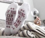 <p>These <span>If You Can Read This Bring Me Some - Novelty Socks </span> ($9) are great stocking stuffers.</p>