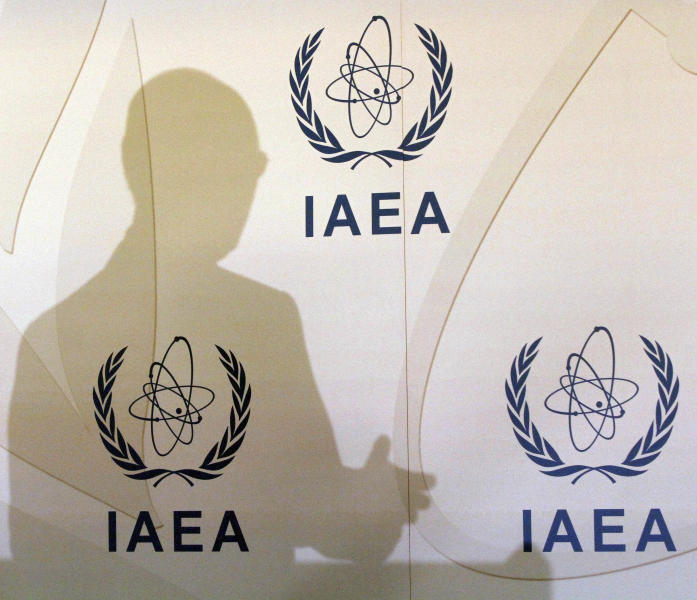 Director General of the International Atomic Energy Agency, IAEA, Yukiya Amano of Japan casts a shadow on the wall during a news conference after a meeting of the IAEA's board of governors at the International Center, in Vienna, Austria, Monday, March 5, 2012. Amano spoke to the 35-nation IAEA board amid backdoor diplomatic maneuvering aimed at coming up with substantial joint pressure on Iran to end its nuclear defiance and address global concerns about its nuclear activities. (AP Photo/Ronald Zak)