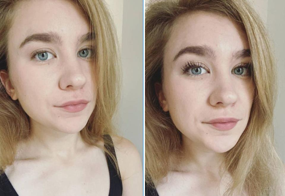 """Take your lashes to new heights with this affordable mascara that'll make them look fuller, longer and a little more dramatic.<br /><br /><strong>Promising review:</strong> """"Hello, that is my face above, because I bought into the hype of over 35,000 positive reviews and now I will never look back!!<strong>Putting it on is like giving my eyelashes butterfly wings.</strong>It doesn't get clumpy, it stays put ALL the live long day (I spent all of this ridiculously hot pandemic summer wearing it, so I can speak to that), and you can apply it on very lightly if you don't want it to look so dramatic, or continue applying for longer lashes each time.""""— <a href=""""https://www.buzzfeed.com/emmalord9"""" target=""""_blank"""" rel=""""noopener noreferrer"""">Emma Lord<br /><br /></a><strong>Get it from Amazon for <a href=""""https://www.amazon.com/dp/B00T0C9XRK?tag=huffpost-bfsyndication-20&ascsubtag=5815832%2C24%2C36%2Cd%2C0%2C0%2C0%2C962%3A1%3B901%3A2%3B900%3A2%3B974%3A3%3B975%3A2%3B982%3A2%2C16172788%2C0"""" target=""""_blank"""" rel=""""noopener noreferrer"""">$4.99</a>.</strong>"""