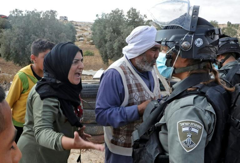 This family in the village of Susya in the southern West Bank were among 205 Palestinians who were displaced by Israeli home demolitions in August alone, according to UN figures