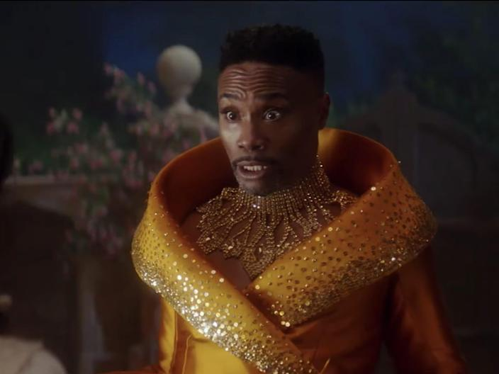 billy porter as the fairy godmother in the new 2021 cinderella remake