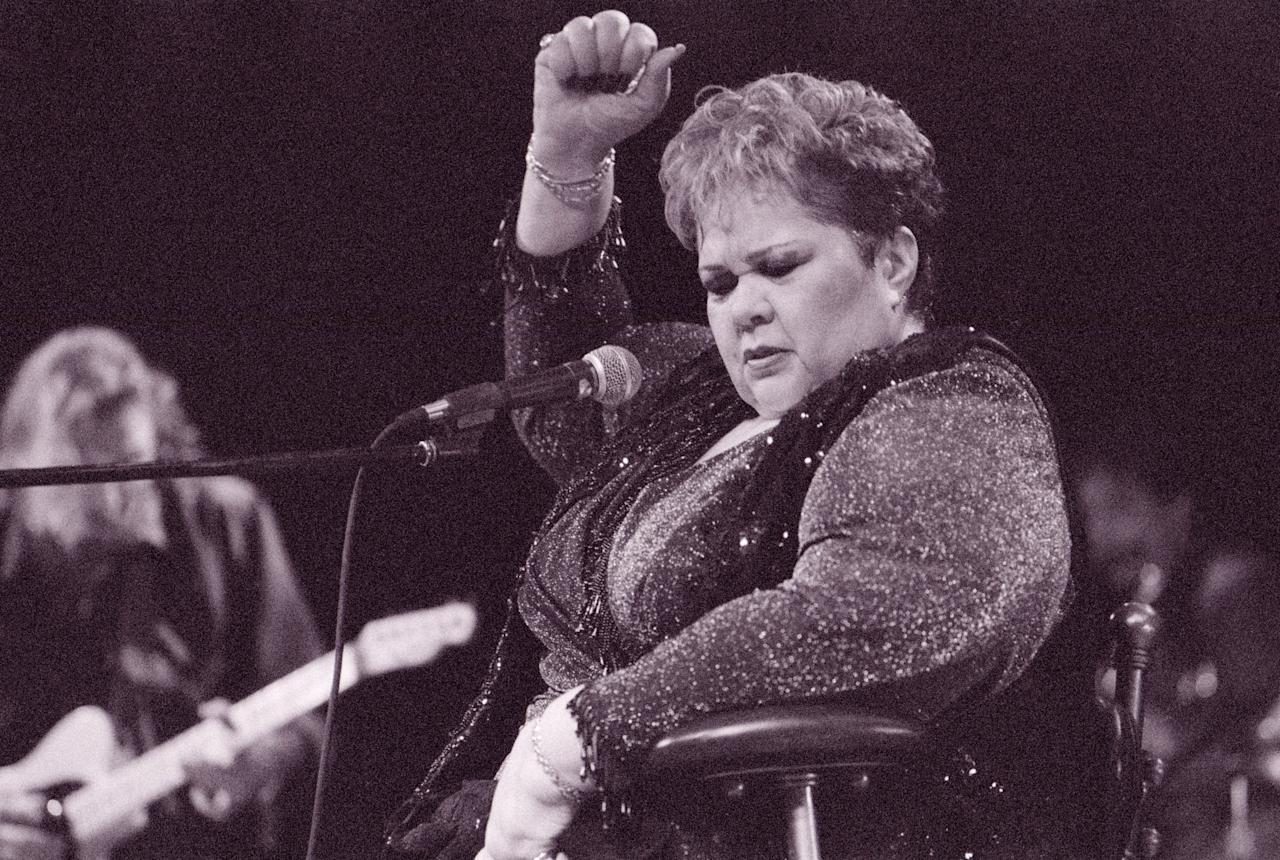 Etta James during Etta James Performing at House of Blues - July 23, 1999 at House of Blues in Los Angeles, California, United States. (Photo by Skip Bolen/WireImage)