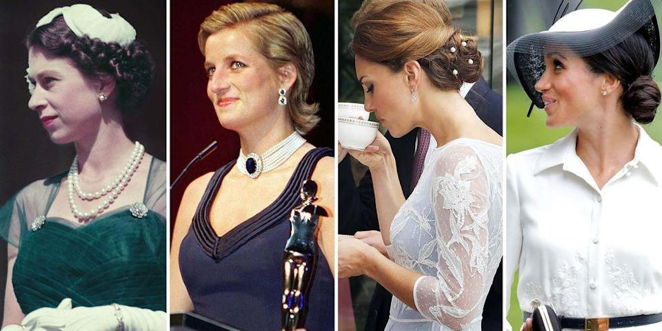 <p>Royal hairstyles were both traditional and predictable for centuries—until Princess Diana rose to fame and made her signature hairstyle the must-have haircut of the '80s. The world fell in love with Kate Middleton and her bouncy blowout, and then suddenly the popularity of blowout bars exploded across the world. Now we have Meghan Markle, who isn't afraid to wear her hair up, down, straight, curly, or in a messy bun. Ahead, see how royal hairstyles have evolved over the years—from loose curls in the 1920s to Markle's waves of 2019.</p>