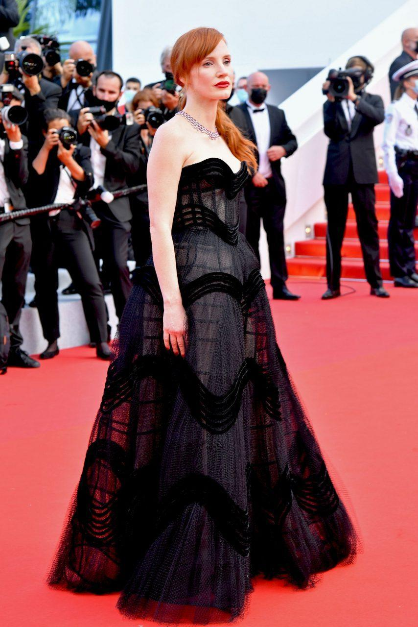 Jessica Chastain in Dior Haute Couture and Chopard Jewerly