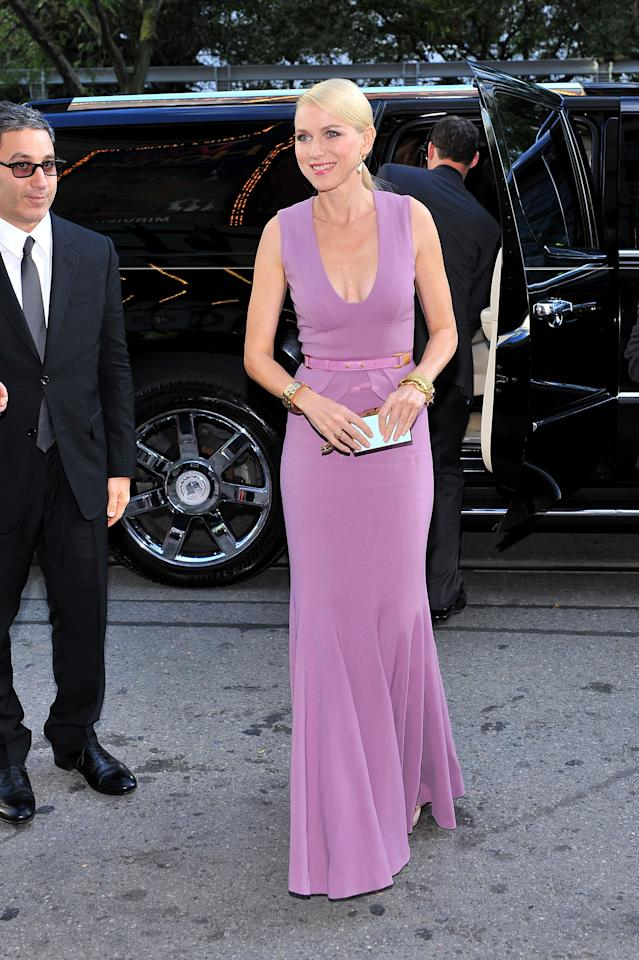 "WORST: Don't get us wrong -- Naomi Watts is gorgeous and this Elie Saab dress fits her extremely well. But the lavender colour just screams ""maid of honour"" to us. Maybe a sapphire colour would have worked better?"