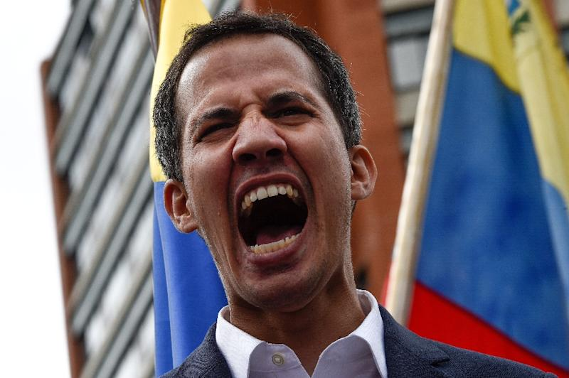Major regional players Brazil, Colombia, Chile, Peru and Argentina all gave their backing to Juan Guaido's self-proclamation as Venezuela's acting president (AFP Photo/Federico PARRA)