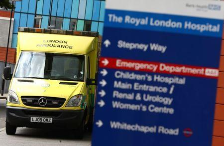 An ambulance is parked at The Royal London Hospital in London, Britain May 13, 2017. REUTERS/Neil Hall