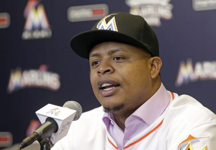 Edinson Volquez has tough shoes to fill as the Marlins opening day starter. (AP)