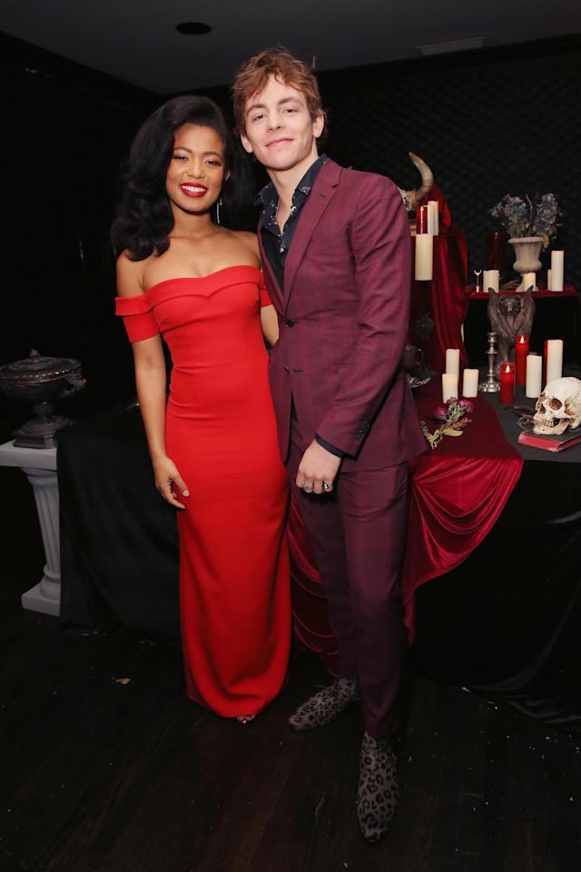 """<p>Dating rumors began shortly after Ross and Jaz Sinclair met on the set of <strong>Chilling Adventures of Sabrina</strong>, but it took a while for the couple to go public. Fans were pretty convinced the two were more than friends after Ross's sister, Rydel Lynch, <a href=""""http://twitter.com/DailyRoss/status/1080021148052660225"""" target=""""_blank"""" class=""""ga-track"""" data-ga-category=""""Related"""" data-ga-label=""""http://twitter.com/DailyRoss/status/1080021148052660225"""" data-ga-action=""""In-Line Links"""">shared a Snapchat of Ross and Jaz kissing</a> on New Year's Eve, but when asked about their relationship by <strong>Entertainment Tonight</strong> in January 2019, Ross insisted that <a href=""""http://www.etonline.com/ross-lynch-address-romance-rumors-with-sabrina-co-star-jaz-sinclair-exclusive-117518"""" target=""""_blank"""" class=""""ga-track"""" data-ga-category=""""Related"""" data-ga-label=""""http://www.etonline.com/ross-lynch-address-romance-rumors-with-sabrina-co-star-jaz-sinclair-exclusive-117518"""" data-ga-action=""""In-Line Links"""">she was just his """"closest friend.""""</a> Just a few months later, <strong>Us Magazine</strong> <a href=""""http://www.usmagazine.com/celebrity-news/news/sabrina-stars-ross-lynch-jaz-sinclair-kiss-amid-dating-rumors/"""" target=""""_blank"""" class=""""ga-track"""" data-ga-category=""""Related"""" data-ga-label=""""http://www.usmagazine.com/celebrity-news/news/sabrina-stars-ross-lynch-jaz-sinclair-kiss-amid-dating-rumors/"""" data-ga-action=""""In-Line Links"""">caught the couple getting cozy in NYC</a>, and in January 2020, the costars finally <a href=""""http://www.justjaredjr.com/2020/01/17/ross-lynch-jaz-sinclair-cozy-up-at-balmain-fashion-show-in-paris/"""" target=""""_blank"""" class=""""ga-track"""" data-ga-category=""""Related"""" data-ga-label=""""http://www.justjaredjr.com/2020/01/17/ross-lynch-jaz-sinclair-cozy-up-at-balmain-fashion-show-in-paris/"""" data-ga-action=""""In-Line Links"""">made their red carpet debut together at the Balmain show</a> in Paris. Harvey Kinkle and Rosalind Walker stans, rejoice!</p>"""