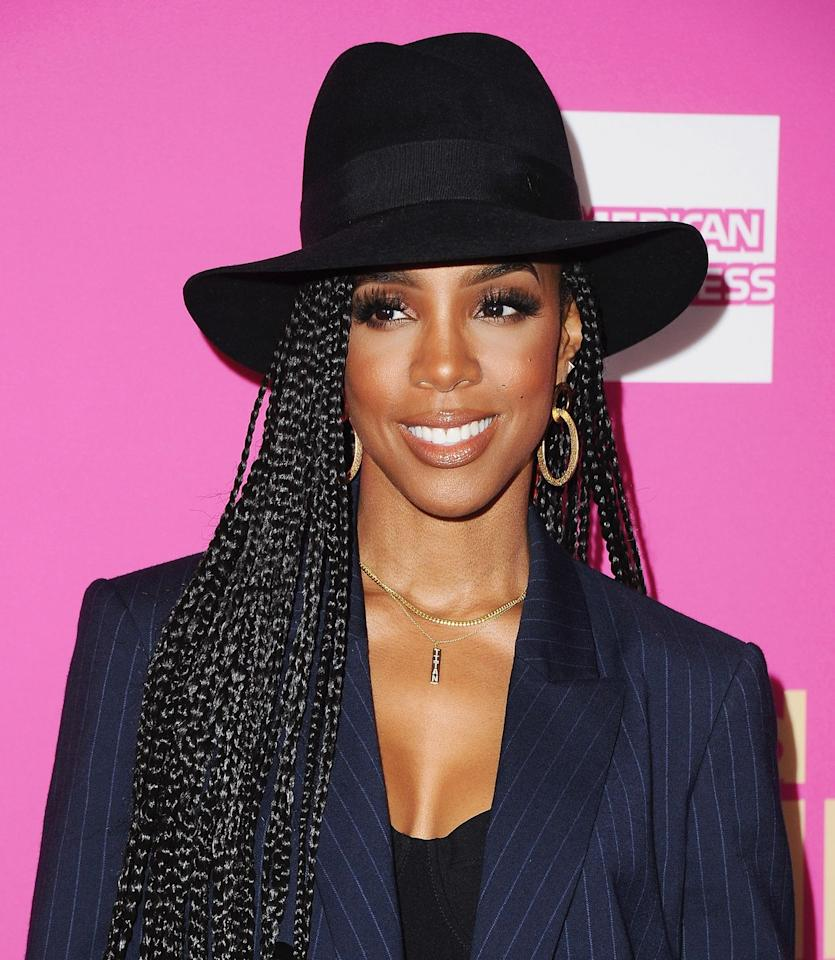 "<p>Kelly Rowland is giving us a true ""I'm a boss"" vibe with this hairstyle at the Billboard Women in Music lunch in 2017. Bonus: If your box braids are ever looking a little frayed at the root, throwing on a hat is an easy solution. </p>"