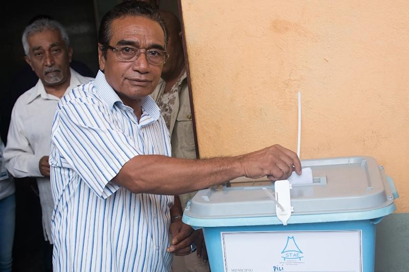 East Timor presidential candidate Francisco Guterres received over 57 percent of votes cast in Monday's poll, according to the election commission