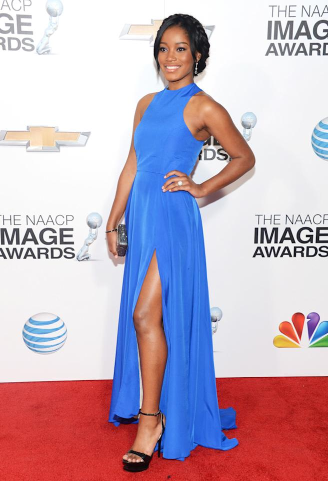 LOS ANGELES, CA - FEBRUARY 01:  Actress Keke Palmer arrives at the 44th NAACP Image Awards held at The Shrine Auditorium on February 1, 2013 in Los Angeles, California.  (Photo by Jason Kempin/WireImage)