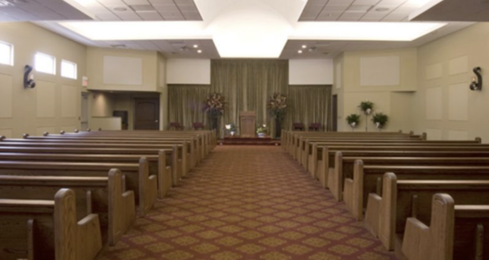 Inside the James H. Cole Funeral Home, where the woman's body was taken. Source: Google Maps