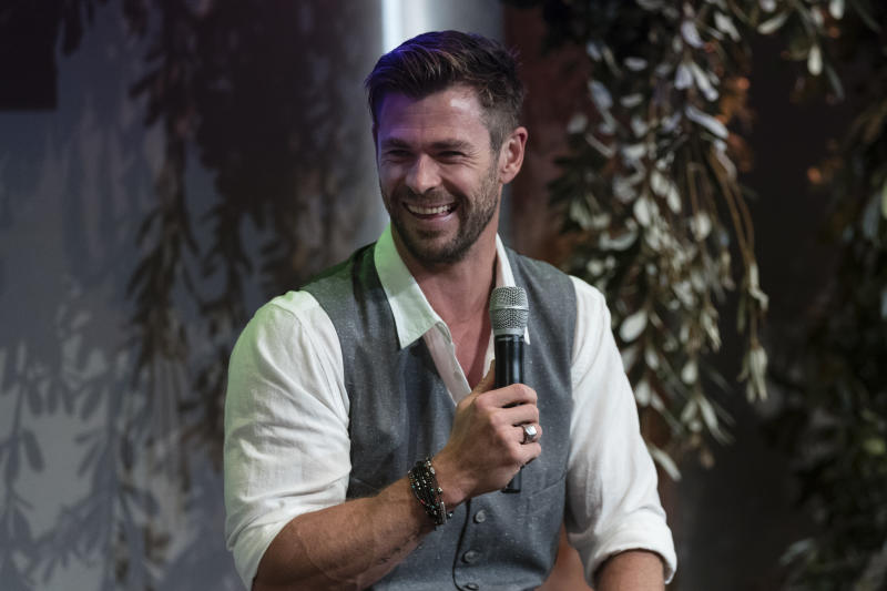 Chris Hemsworth attends a preview of Tourism Australia's latest campaign at Sydney Opera House on October 30, 2019. (Photo by Brook Mitchell/Getty Images)