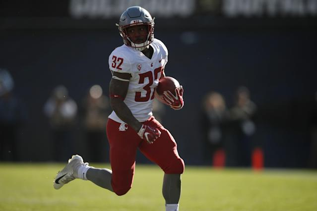 Washington State Cougars running back James Williams will join the Kansas City Chiefs as an undrafted free agent. (AP Photo/David Zalubowski)