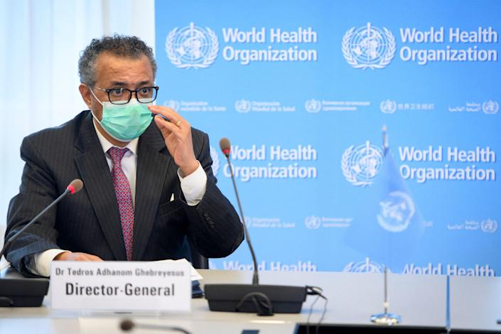 <p>Questions remain about how Covid-19 originated (pictured is the director-general of the WHO)</p> (POOL/AFP via Getty Images)