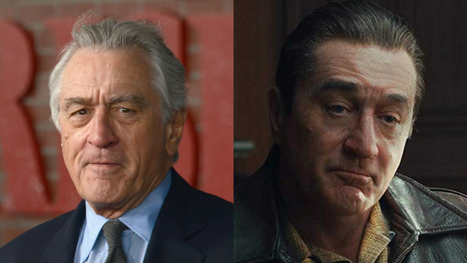 There are roughly 60 years of De Niro in <em>The Irishman</em>, from a youthful 20-something soldier to an octogenarian in a nursing home, all achieved through some very impressive digital de-aging work. (Credit: Albert L. Ortega/Getty Images/Netflix)