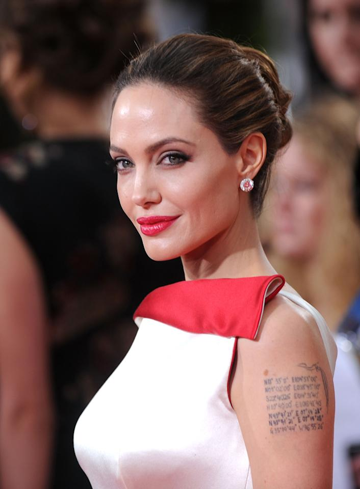 BEST: Angelina Jolie arrives at the 69th Annual Golden Globe Awards in Beverly Hills, California, on January 15.