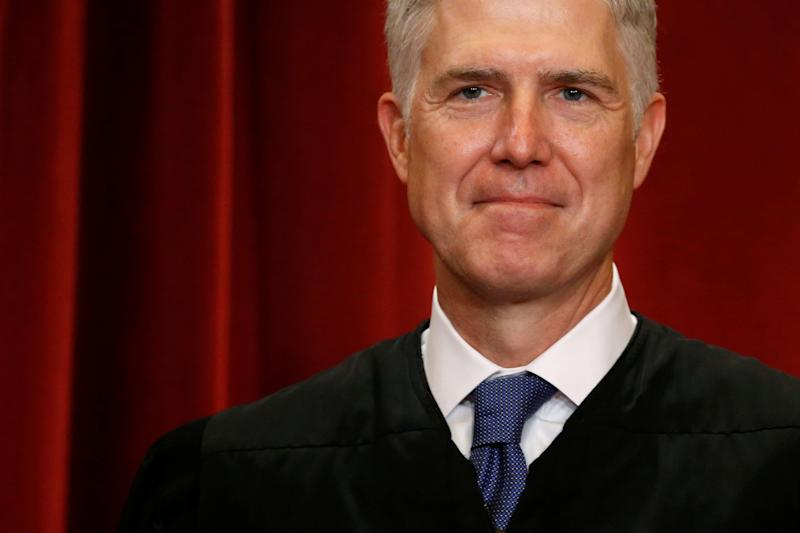 Supreme Court Justice Neil Gorsuch, the conservative picked for the post by President Donald Trump.