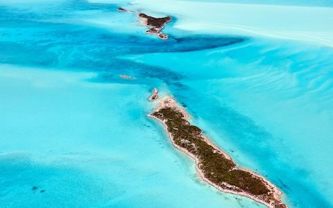 The Exumas from from above - Credit: getty