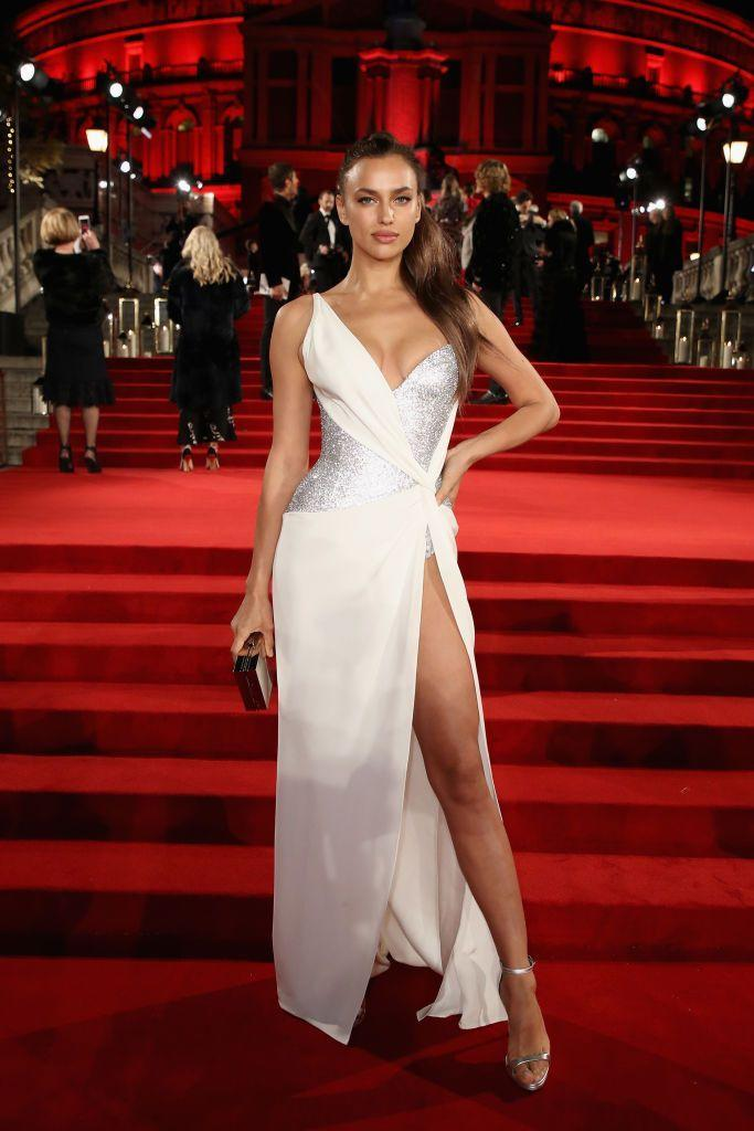 <p>Shayk wore another Versace gown to the fashionable event. </p>
