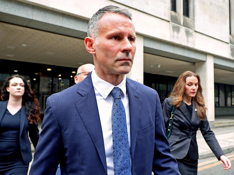 Former Manchester United footballer Ryan Giggs leaves Manchester Crown Court (PA Wire)