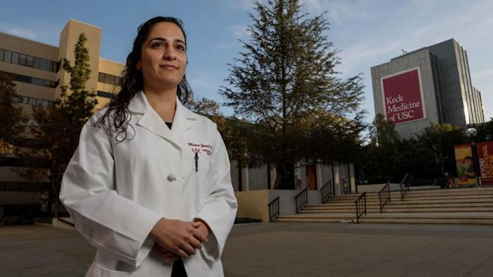 """Dr. Meena Zareh testified that Dr. Guillermo Andres Cortes sexually assaulted her when both worked at Los Angeles County-USC Medical Center. This week, the Medical Board of California revoked Cortes' license to practice. <span class=""""copyright"""">(Irfan Khan / Los Angeles Times)</span>"""