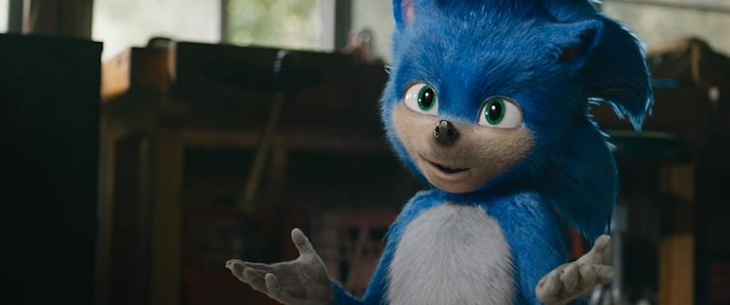 Sonic producer assures us the character will look much better than this (Sony)