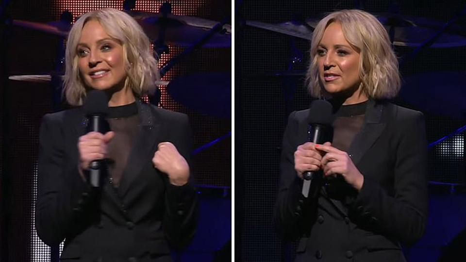 Carrie Bickmore paid tribute to late music promoter Michael Gudinski for helping launch a project close to her heart. Photo: Getty Images.
