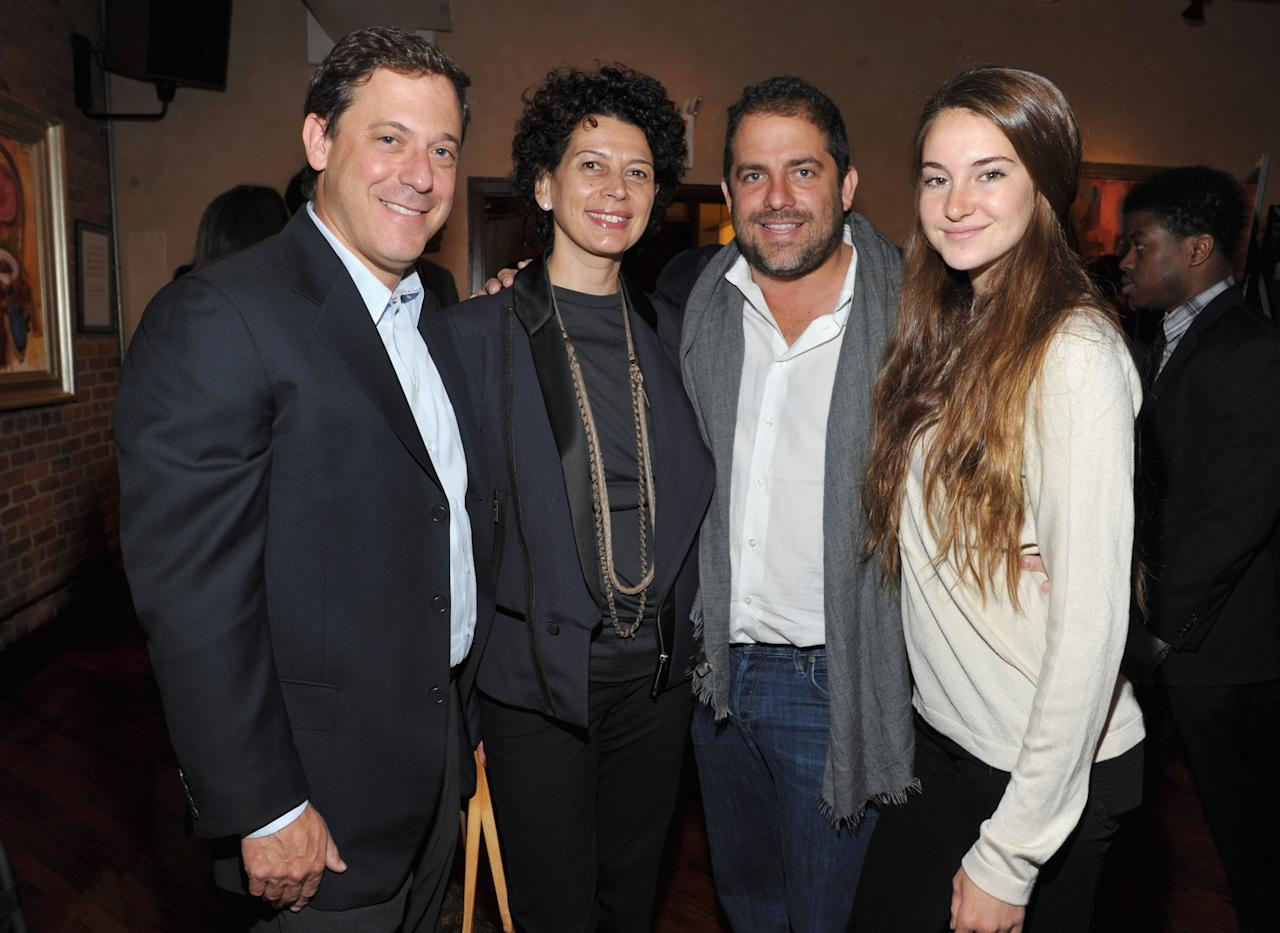 NEW YORK, NY - APRIL 19:  Director Brett Ratner and actress Shailene Woodley (R) and guests attend the 2012 Tribeca Film Festival Jury lunch at the Tribeca Grill Loft on April 19, 2012 in New York City.  (Photo by Mike Coppola/Getty Images for Tribeca Film Festival)