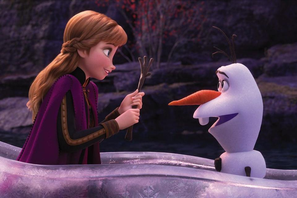 Ice, ice, baby: Anna and Olaf in the new movie