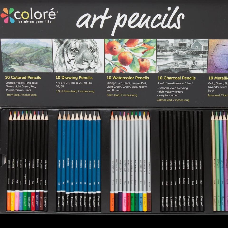 <p>There's something about new colored pencils that just makes me happy. I know this <span>Colore Premium Art Pencils Pack</span> ($18) will inspire me to create something new.</p>