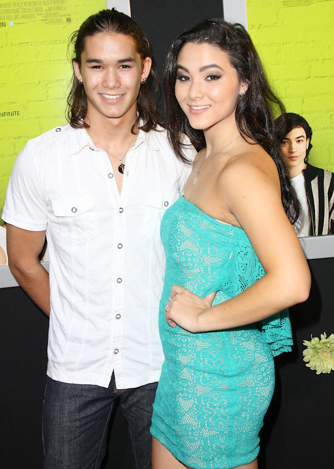 "HOLLYWOOD, CA - SEPTEMBER 10:  Actor BooBoo Stewart (L) and Fivel Stewart attend the Premiere Of Summit Entertainment's ""The Perks Of Being A Wallflower"" at the Arclight Cinerama Dome on September 10, 2012 in Hollywood, California.  (Photo by Frederick M. Brown/Getty Images)"
