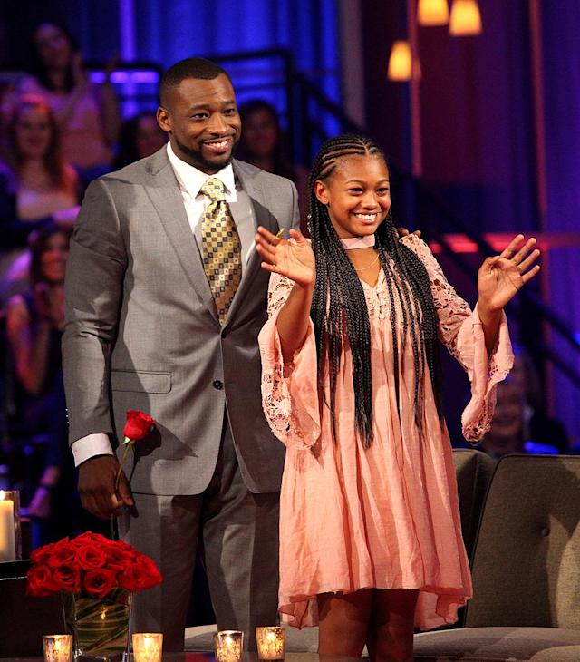 <p>Kenny and Mckenzie in ABC's <i>The Bachelorette</i>. <br>(Photo: Paul Hebert/ABC) </p>