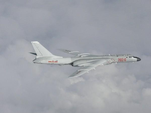 A Chinese H-6 bomber flies over East China Sea  (File Photo)