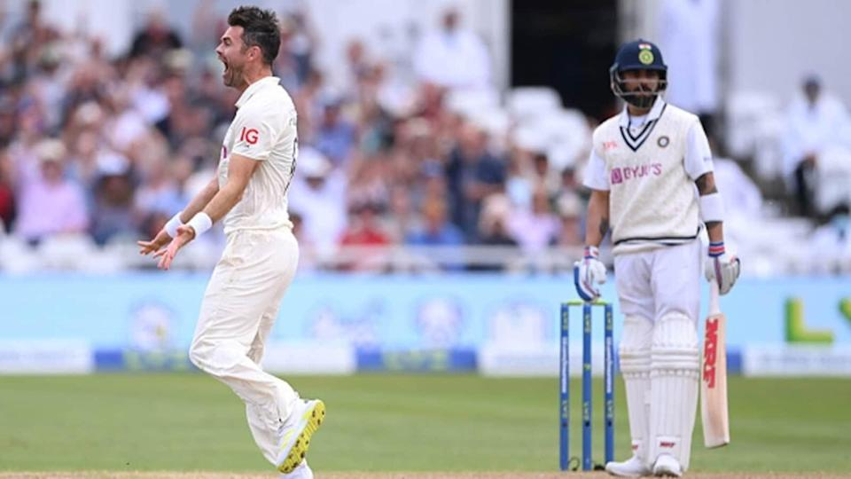 India vs England: James Anderson dismisses Virat Kohli for first-ball duck – WATCH | Cricket - Hindustan Times