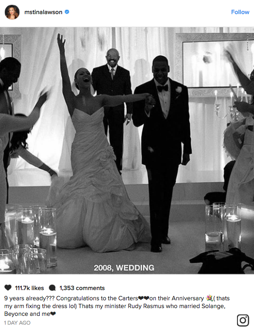 See a Rare Photo from Beyoncé and Jay Z's Wedding