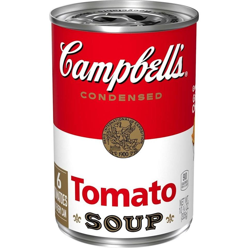 <p>We love this classic <span>Campbell's Condensed Tomato Soup</span> ($1), and it's only 90 calories!</p>